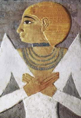 An enhanced reproduction of Hetepheres II with her
