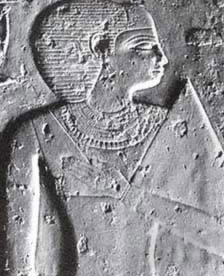 Probable depiction of Queen Henutsen, mother of Khafkhufu I