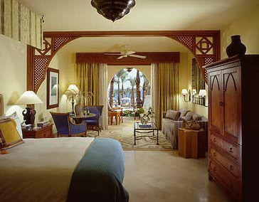 Standard single room accommodations at the Four Seasons in Sharm