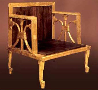 A chair of Hetephere from her tomb at Giza