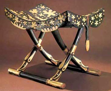 A folding stool from the Tomb of Tutankhamun