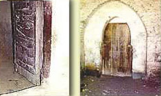 Ancient doors within the monastery of the Archangel Gabriel