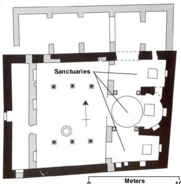 The floorplan of the Church of the Archangel Gabriel