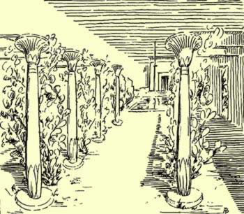 A representation of a garden in the tomb of Kenamun