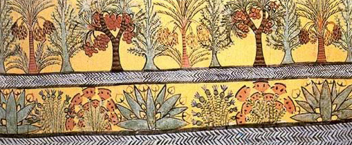 Trees and bushes from the tomb of Sennedjem at Deir el-Medina