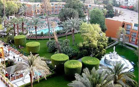 The gardens at the Marriott Cairo