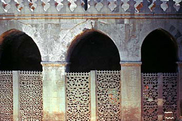 A view of the three screened arches