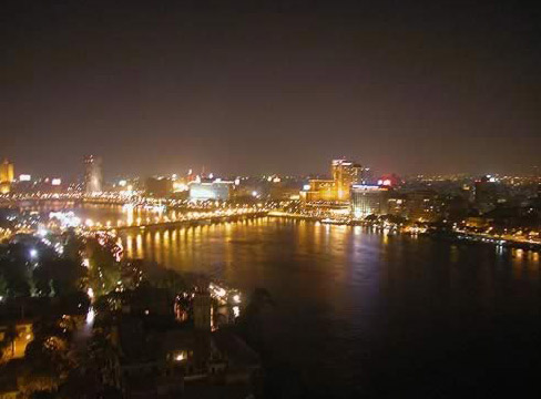 Cairo at Night from the Gezirah Towers & Casino Sheraton