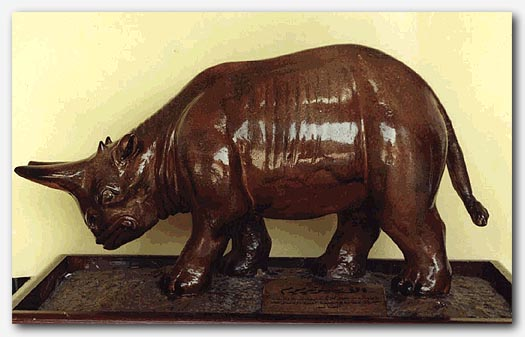 Model of an Arsinoitherium