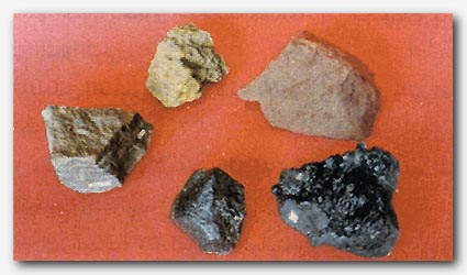 Collection of specimens that illustrate the physical properties of minerals