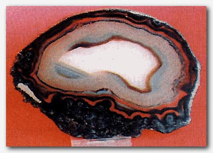 Polished piece of agate