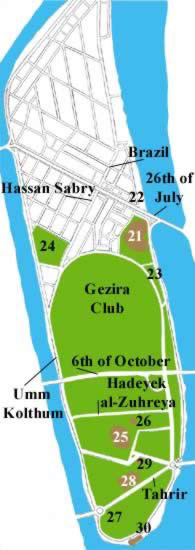 Map (1) of Gezira Island