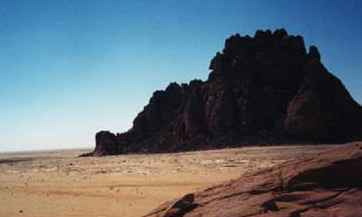 The entrance to Wadi Sura at Gilf Kebir in Egypt