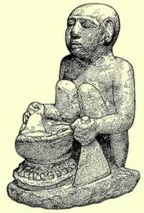 Depiction of a pyramid worker at Giza