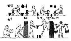 Egyptian Making Pottery, With Furnace Beni Hasan, 1900 B.C.