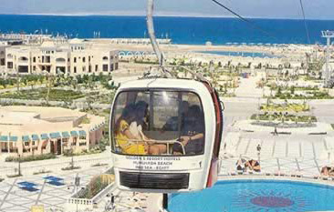 The Cable Car system is needed to shuttle guests around the huge 5 stars hotel.