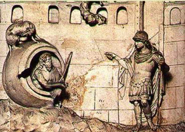 A scene portraying Alexander the Great