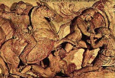 Battle scene of Alexander the Great