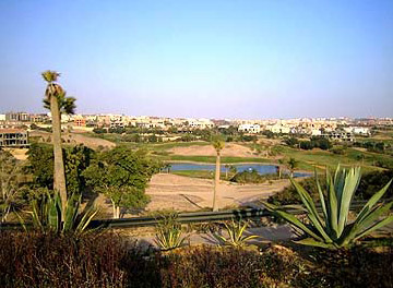 A view of the golf course at Katameya Heights