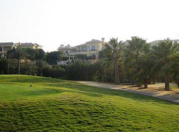 Villas along the golf course