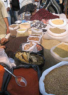 Various spices for sale in the market