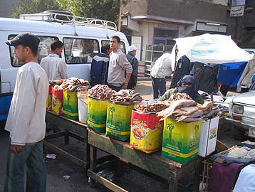 Various food for sale in the market