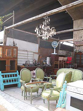 Some merchants specialize in furniture and appliances
