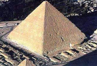 The Great Pyramid of Khufu at Giza in Egypt