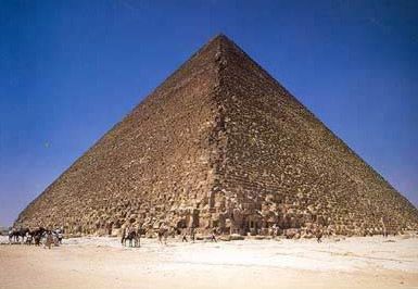 Another view of the Great Pyramid of Khufu at Giza