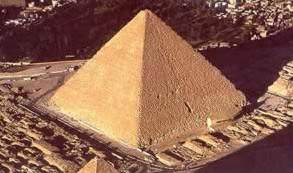 An view of the Great Pyramid of Khufu