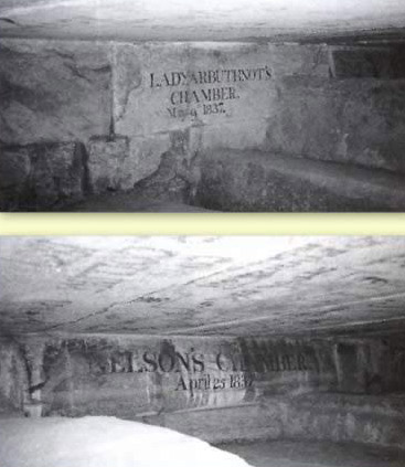 A view of several of the Relief Chambers in the Great Pyramid at Giza