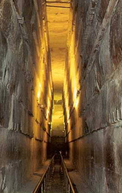 The Grand Gallery in the Great Pyramid of Khufu at Giza