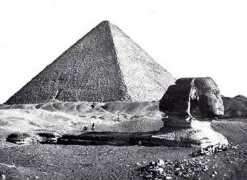 An very early photograph of the Great Pyramid and Sphinx by Francis Frith