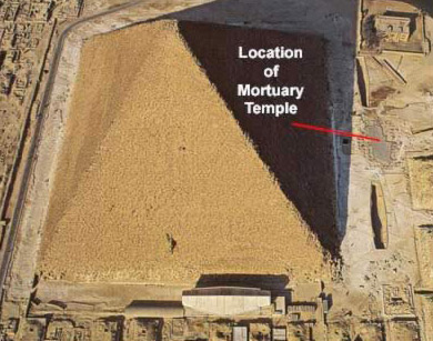 Another view of the location of the Mortuary Temple of the Great Pyramid of Khuf at Giza