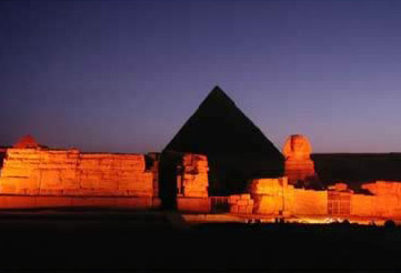 Sound and Light Show at Giza, Photo by Carol Mandel