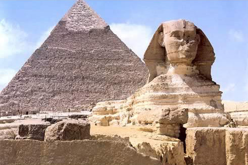 Classic Sphinx and Pyramid