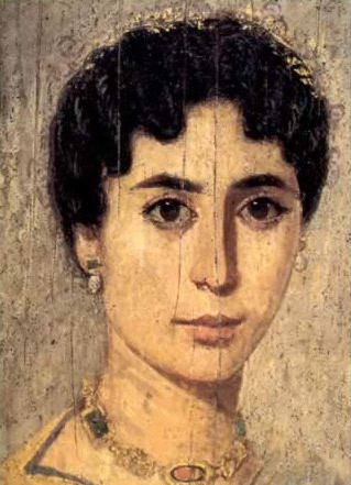 Mummy Portrait of a Young Lady of the Fayoum During Roman Times