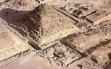 Pyramid G 1c in the Great Pyramid Complex of Khufu at Giza in Egypt