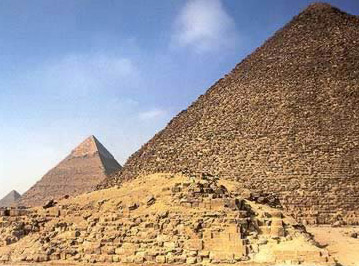 Pyramid G 1a in the Great Pyramid Complex of Khufu at Giza in Egypt