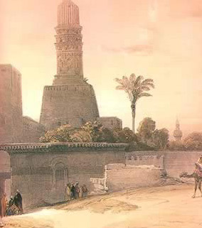Roberts' painting of the El Hakim Mosque