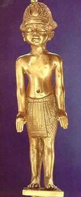 A small statue of King Tut