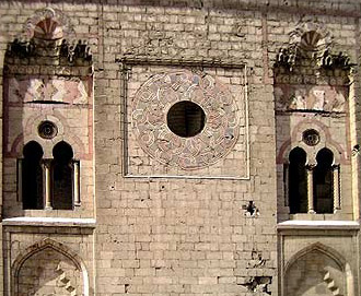 Upper level windows in the Mosque and Madrasa of Sultan Hassan