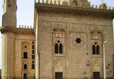 The facade of the mausoleum in the complex