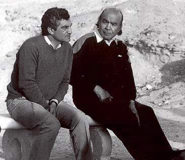 A younger Dr. Hawass with Kamal el-Mallakh, who excavated the solar boat of Khufu at Giza