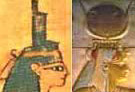 The Headdress of Isis - The Throne Hieroglyph and the Headdress of Hathor and Mut Combination