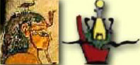The Headdress of Geb, the Tiny Goose Headdress and a Sketch of the Combined Atef and Red Crown