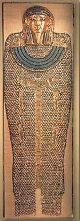 Bead Net and Gold Mask of Hekaemsaef