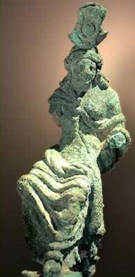 Bronze Statue of Aphrodite at Hercules Temple in Bahariya Oasis