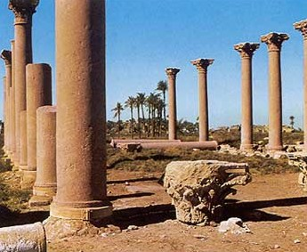 The Christian basilica at Hermopolis