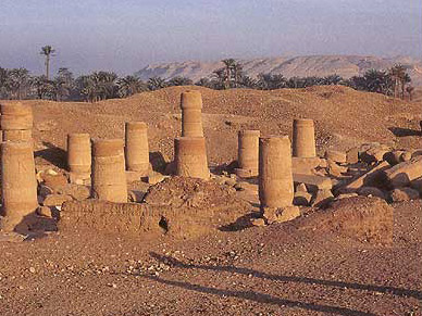 Columns of the temple of Ramesses II dedicated to the gods of Hermopolis